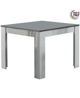 Eettafel modena hoogglans wit en grijs