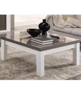 Vierkante salontafel venezia wit en grijs