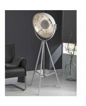 Vloerlamp Ilumen Silver Globe zilver en wit